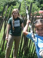 At the playground at the Los Higos School